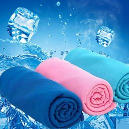 $enCountryForm.capitalKeyWord NZ - 300pcs New Arrival Magic Ice Towel 90 * 30 cm Multifunctional Cooling Summer Cold Sports Towels Cool scarf Ice belt For Children Adult