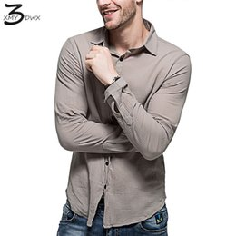 922fa016564f XMY3DWX 2018 Fashion male summer high-grade linen breathable Casual long  sleeve shirts men s pure color Cotton linen shirts XXL  444796