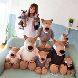 $enCountryForm.capitalKeyWord NZ - 20170628 Hot Sales Lovely Cute Cartoon Creative INS Simulation Wolf Extremely Soft Pillow Plush Toys For Kids Free Shipping