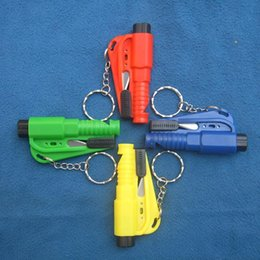 Auto Escape Australia - Mini 3 in 1 Seatbelt Cutter Emergency Glass Breaker Key Chain Tool Smart AUTO Emergency Safety Hammer Escape Lift Save Tool SOS Whistle