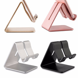 Universal Tablet Pc Holder Australia - 4 Colors Universal Aluminum Alloy Cell Phone Tablet PC Desk Holder Mount Metal Foldable Mobile Stand for iphone samsung J