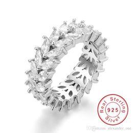 $enCountryForm.capitalKeyWord Australia - Fashion Brilliant 925 Sterling silver Marquise Cut Olive Branch Big Cubic Zirconia Wedding Bands Ring For Women Jewelry SZ 5-12