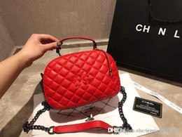 Big Chains Australia - The New Europe And The United States Big Genuine Leather Designer Handbags Tote BaoLing Chain Inclined Shoulder Bags For Women Handbag