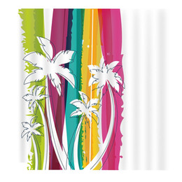 CoConut deCor online shopping - Simple Coconut Tree Beach Ribbon Curtains Large Window Curtain Blackout Curtains Indoor Fabric Decor Kids Room