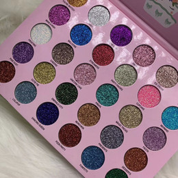 Discount party eye palette Newest Romanky makeup 30 colors glitter Eye shadow palette happy unicorn glitter party pro eye cosmetics DHL Free