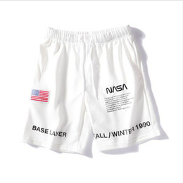 designer mens shorts sale Australia - NASA Mens designer luxury fashion Shorts 3 Colors Fashion Embroidery Summer Shorts High Street Casual Pants hot sale best sellers