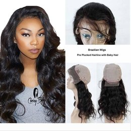 monofilament lace front wig NZ - Brazilian Human Hair Lace Front Wigs for Black Women Brazilian Body Wave Pre Plucked Natural Hairline Lace Front Wigs With Baby Hair