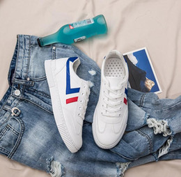 Spring Fall Canvas Shoes Australia - men white canvas shoes 2 color unisex shoes spring autumn all match must have lovers casual sneakers flat heel 39-44