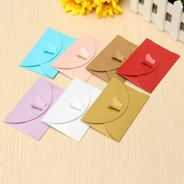 2adbe0cb2ff Blank Greeting Cards Envelopes Wholesale Australia - 100pcs Mini Colored  Butterfly Buckle Kraft Paper Envelopes DIY