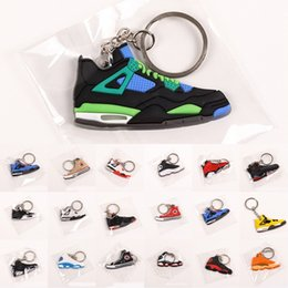 wholesale sports bottle openers UK - Mini Sneaker Keychains Running Sports Key Ring Car Key Holder Creative Basketball Shoes Key Chain Party Favor Gift X328FZ