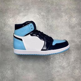 $enCountryForm.capitalKeyWord Canada - 2019 Best Authentic 1 High OG UNC Patent Men Basketball Shoes 1S WMNS ASG Obsidian Blue Chill White CD0461-401 With box