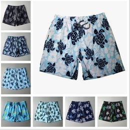 Summer Turtle Printed Men's Beach Shorts Mens Swimwear Board shorts Quick Dry Sports Boxer Trunks Shorts Swimsuits ZZA579 on Sale