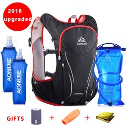 2018 AONIJIE Nylon 5L Outdoor Bags Hiking Backpack Vest Professional Marathon  Running Cycling Backpack for 1.5L Water Bag  29425 7d4ef211e2fc5