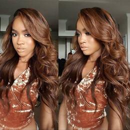Silk Top Curly Human Hair Wig Australia - Brazilian Human Hair Lace Front Wigs Medium Cap silk top Big curly Full Lace Human Hair Wig #1bT#30 Ombre Human Wig
