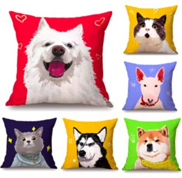 art throw pillow NZ - Pop Art Dog Puppy Neck Body Pillowcase Linen Bed Travel Pillows Cover Couch Seat Cushion Throw Pillow Home Decoration Gift