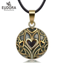 $enCountryForm.capitalKeyWord Australia - wholesale Copper Vintage Heart Tree Mexican Harmony Bola Ball Pendant Necklace for Pregnancy Baby Vintage fine Jewelry N14NB327