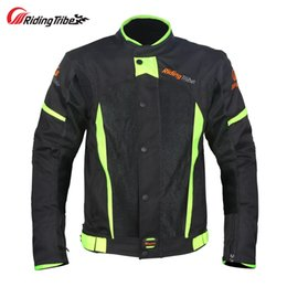 Breathable Motocross Gear Australia - Riding Tribe Motorcycle Jacket Motocross Off-Road Racing Coat Biker Clothing Protective Gear Armor Summer Breathable Jackets