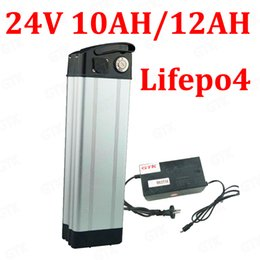 24v scooter charger NZ - GTK 24V 12AH Lifepo4 battery 24V 10AH Lifepo4 Silver Fish bateria with BMS for 24V 350W 250W bicycle scooter ebike + charger