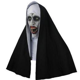 $enCountryForm.capitalKeyWord NZ - The Nun Horror Mask Halloween Cosplay Scary Latex Masks With Headscarf Full Face Helmet Party Props Drop Shipping