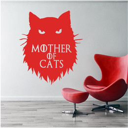 Discount cars decor for kids room - Game of Thrones Mother of Cats Khaleesi Wall Sticker home decor Decals DIY Cartoon Car stickers or Laptop Decal Animal P