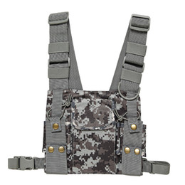 $enCountryForm.capitalKeyWord UK - Walkie Talkie CS Tactics Chest Harness Front Pack Pouch Holster Vest Rig for Baofeng UV-5R UV-82 888S Radio Walkie Talkie Rescue Essentials