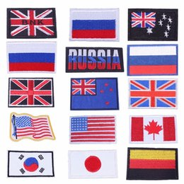 $enCountryForm.capitalKeyWord Australia - Pulaqi Country Flag UK US Russia Japan Iron On Patches For Clothing Bags Armband Embroidered Stickers On DIY Accessories Decor F