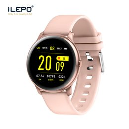 female smart watches NZ - KW19 Smart watch Women Heart rate monitor Multi-Languages Waterproof Men Sport Watch Fitness Tracker For Android IOS