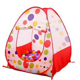 pop up house tent kids NZ - Portable Kids Pop Up Adventure Ocean Ball Play Indoor Outdoor Garden House teepee tents Factory Price Sale Wholesale Order Free Ship