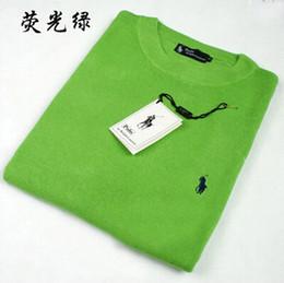 O-cou Ralph Lauren Casual Slim Fit Tricot Tricot Top hommes de mode T-shirts Mode Hommes Vêtements Chandails Tricotés Pull en Solde
