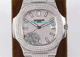 $enCountryForm.capitalKeyWord Australia - Top Nautilus Full Diamonds Mens Watch Sapphire Crystal Swiss 324SC Automatic Movement 28800vph Luminous Designer Watches 40mm