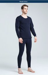 Wholesale black thermal underwear for men for sale - Group buy Winter long johns thick men thermal underwear sets keep warm for Russian Canada and European men