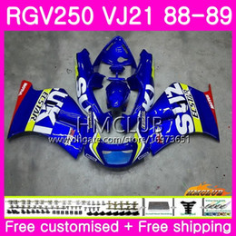 fairing 1989 Australia - Bodys For SUZUKI SAPC RGV 250 VJ21 RVG250 RGV250 88 89 90 91 92 93 17HM.13 RGV-250 VJ22 1988 1989 1990 1991 1992 1993 Fairing Hot Stock blue