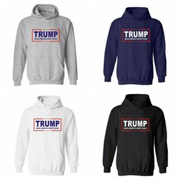 Great standards online shopping - Men Women Donald Trump Hoodie Unisex Hooded Sweater XXS XL O Neck Long Sleeve Pullover Make America Great Again Home Clothing AAA1507