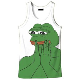 715112acb80d2 2018 hot sale New fashion 3D men s frog print 9 size casual tanktop custom-made  print free shipping