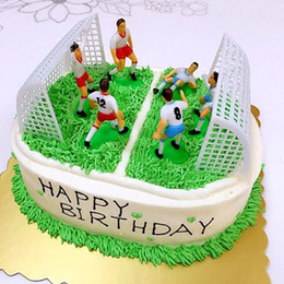 football cakes NZ - DIY Football Team Scene Cake Decoration Accessories Handmade Cake Decoration Tool Decorating Supplies 8PCS