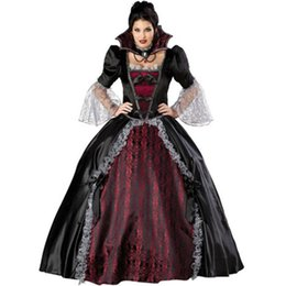 woman vampire halloween costumes Australia - New Queen Of The Vampires costume halloween costumes for women sexy cosplay black gothic lolita dress fantasy women wholesale