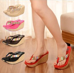 $enCountryForm.capitalKeyWord Australia - Hot Sale-Female Slippers Woman Flip Flops 2018 Summer Hot Sale Fashion Wedge Heels Pantshoes Female Footwear for Girls SNE-01