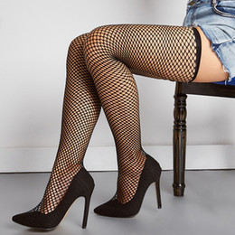 $enCountryForm.capitalKeyWord Australia - Plus Size Sexy Pointed Hollow Net Stockings Women's Boots Over The Knee 2019 Black New Stiletto Sleeves High Heels Shoes
