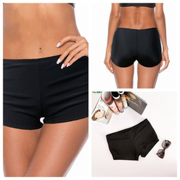 Wholesale teenage bathing suits online – Women s Swimming Trunks Swimsuit with Shorts Bottom Swimwear Deuce High Waisted Bathing Suits Black Separate Teenage Swimsuits