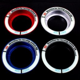 Key Sticker Ignition Australia - Car Sticker Glow Key Ring Hole Sticker luminous Ignition Switch Motorcycle Decal Circle Light Decoration For Focus