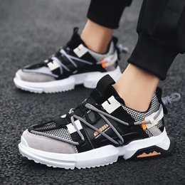 $enCountryForm.capitalKeyWord Australia - 2019 Running shoes for men Sneakers Breathable Mesh Height Increasing Hand made Paiting Fitness Jogging for men Sport shoes