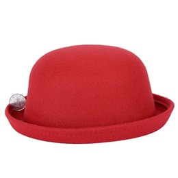 ccca64be050 2018 Fashion Winter Hat Fedora For Woman Vintage Adult Lady Cute Children  Elegant Trendy Wool Felt Bowler Hats For Girl And Boy