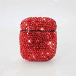 $enCountryForm.capitalKeyWord Australia - Wholesale 2019 Newest for Apple Airpods Earphone Cover Original Glitter Diamond Colorful Air Wireless Headphone Case Double Earbuds Shell