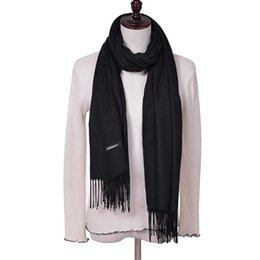 $enCountryForm.capitalKeyWord UK - New Fashion 100% Faux Cashmere Scarf Women With Tassel Solid Scarves Pure Color Winter Hijab and Pashmina Size 180*65cm