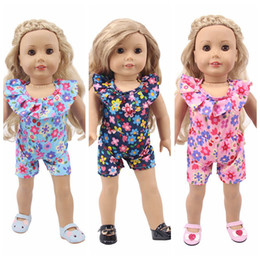 chinese casual clothes Australia - 3 Styles Summer One Piece Dress Shorts Skirt Cloth for 18 inch American Girl Our Generation Doll Apparel