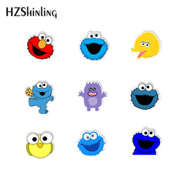 $enCountryForm.capitalKeyWord Australia - 2020 New Cookie Monster Sesame street Shrinky Dinks Acrylic Brooch for Clothes Backpack Fashion Decoration Pins Accessories