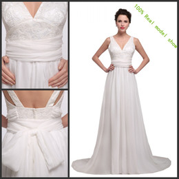 $enCountryForm.capitalKeyWord NZ - Plus Size African Wedding Dresses Chiffon Bridal Gowns A-Line Lace Read pictures Ivory Beach Country Western Wedding Dresse