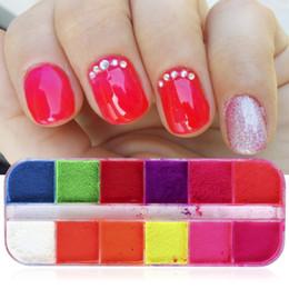 $enCountryForm.capitalKeyWord Australia - Cross-border for nail polish powder ins wind 12-color boxed nails super bright fluorescent glitter girl color
