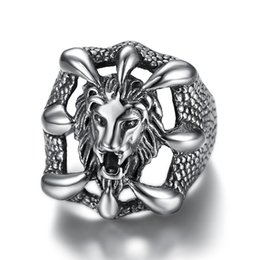 Stainless Steel Indian Head Rings Australia - Stainless Steel Men Ring Silver Color Lion Head Paw Punk Skull Rock Finger Ring for Men Fashion Jewelry