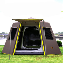 $enCountryForm.capitalKeyWord Australia - UV Hexagonal Aluminum Rod Automatic 4 5 6 Person Anti Rain Tarp Wind Proof Sun shelte Family Awning Outdoor Camping Pergola Tent